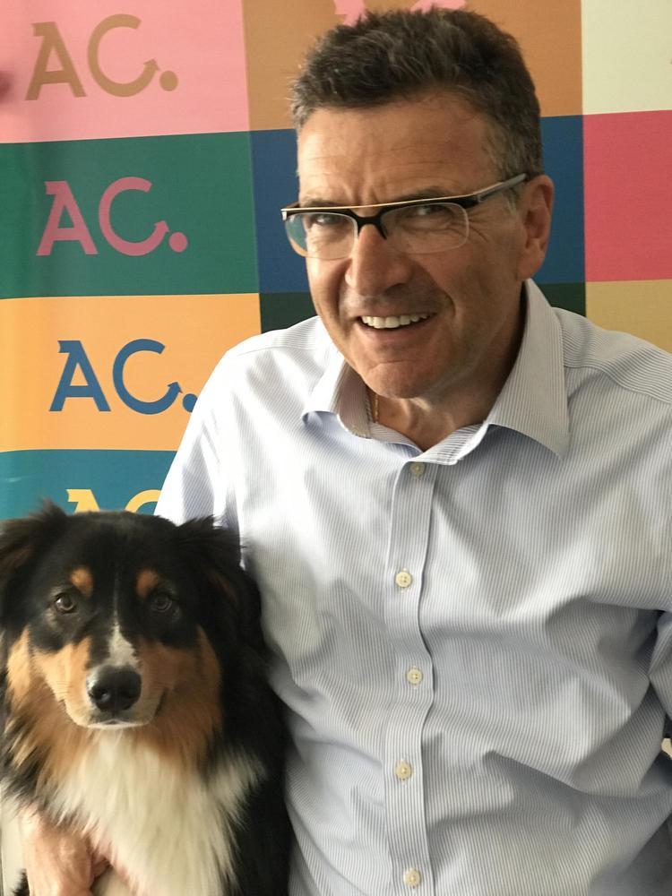 A. Cordier Mit Hund
